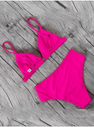 Неоновый розовый женский купальник