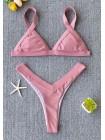 Неоновый розовый купальник с плавками танго