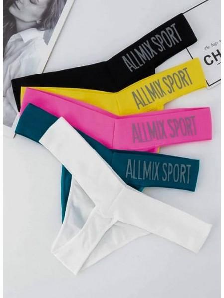 Комплект женского спортивного белья плавок 3 шт