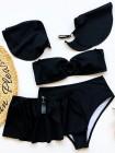 Женский купальник бандо тройка черный