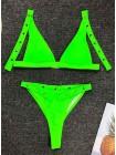 Неоновый зеленый купальник со стрингами
