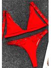 Сексуальный регулируемый купальник с пряжками (черный, красный)