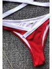 Спортивный женский купальник топ + трусики бразильяна