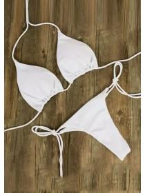 Белый открытый купальник на завязках