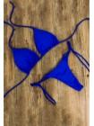 Яркий регулируемый купальник-треугольник электрик