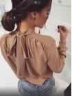 Блузка с бантом длинный рукав
