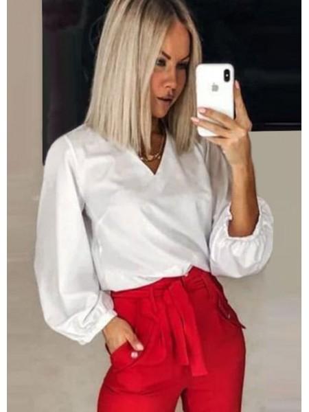 Нарядная блуза с широкими рукавами