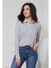 Блузка в полоску на пуговицах