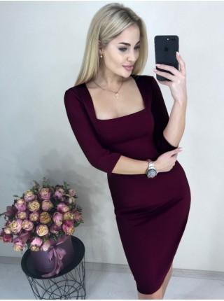 Однотонное платье Розалия