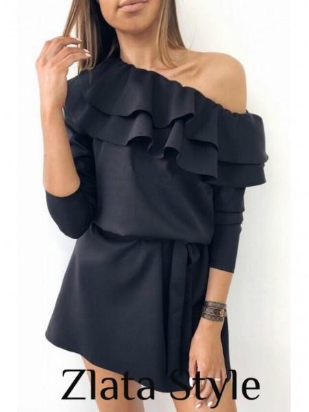 Весеннее платье с рюшами Лилит