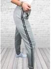 Женские трикотажные штаны с лампасами