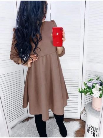 Свободное платье из замша