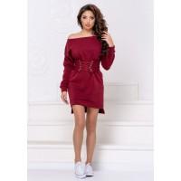 Короткое платье с корсетом