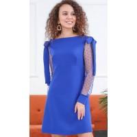 Модное платье с сеткой на рукавах