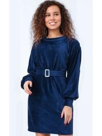 Жіноча вельветова сукня з поясом