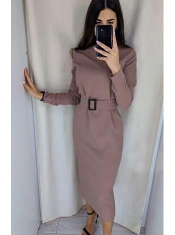 Стильное платье миди с рукавом