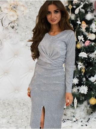 Красивое вечернее платье с люрексом