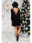Свободное платье ангора с кружевом