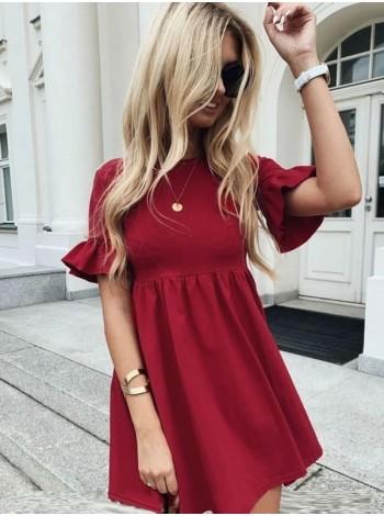 Короткое платье с завышенной талией