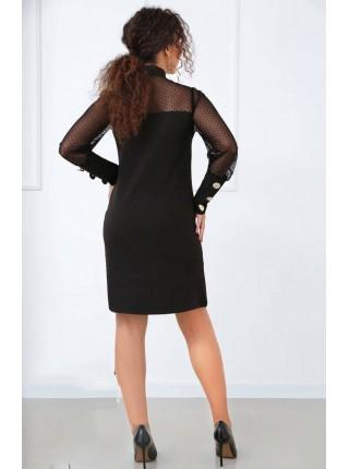 Черное вечернее платье с бантом