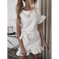 Летнее платье с рюшами