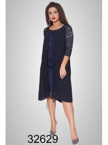 Вечернее платье с шифоновой накидкой