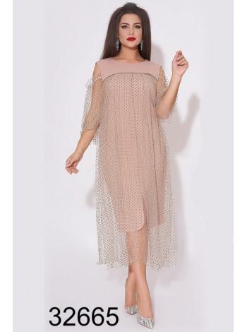 Вечернее платье мелкий горошек