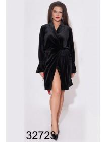 Короткое вечернее платье из бархата