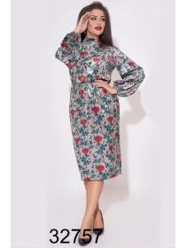 Вечернее платье из бархата цветочное