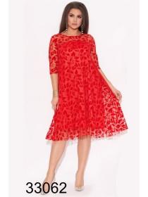 Вечернее платье с сеткой для полных