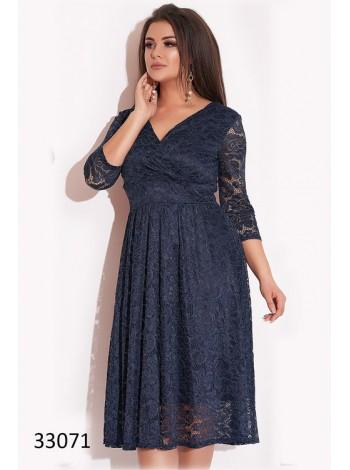 Вечернее платье с запахом для полных