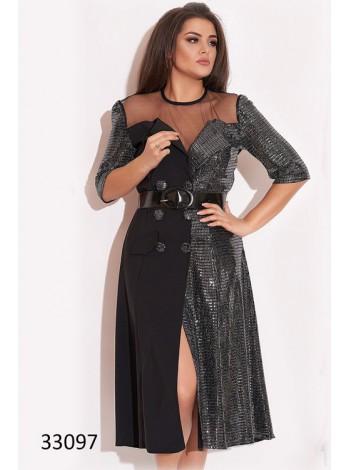Модное вечернее платье с пайетками