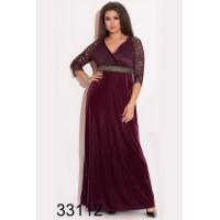 Длинное вечернее платье из бархата