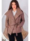 Короткая куртка-одеяло на завязках