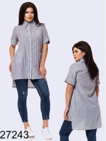 Длинная рубашка с коротким рукавом