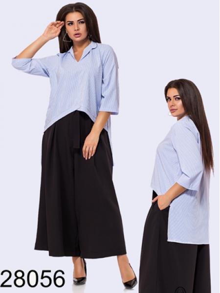 Стильная блузка в полоску с рукавом