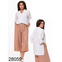 Батальная блузка удлиненная сзади