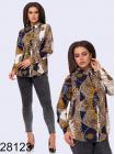 Батальная блузка с принтом