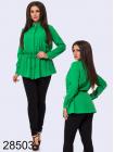Однотонная блузка на пуговицах длинный рукав
