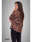 Модная блузка на пуговицах Леопард