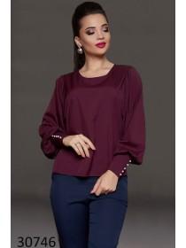 Модная блуза с длинным рукавом фонарик