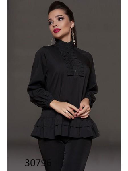 Нарядная свободная блузка с рюшами