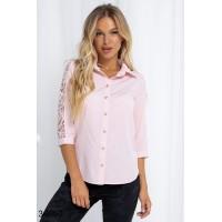 Нарядная блузка с гипюровыми вставками