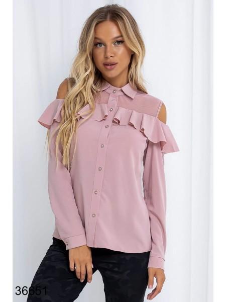 Красивая блузка с длинным рукавом
