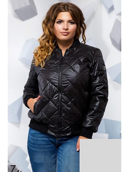 Стеганная коротка куртка з манжетами на рукавах b2ce4304630fc