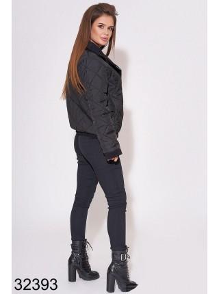 Двухстронняя демисезонная стеганная куртка короткая