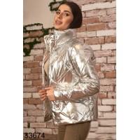 Куртка демисезонная металлик золото серебро