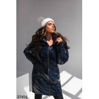 Куртка женская удлиненная на молнии