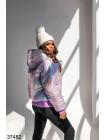 Женская голографическая куртка-хамелеон