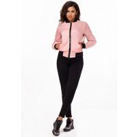 Женская модная куртка бомпер с карманами 823722-26